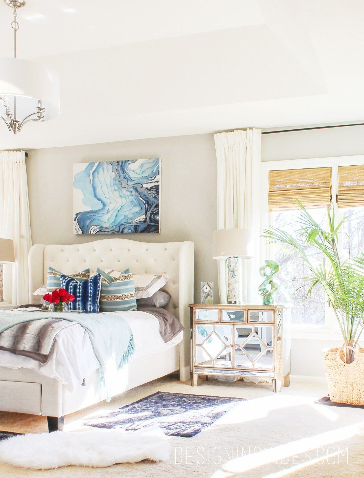 Modern Farmhouse Bedroom Refresh on a Budget | 1000 in ... on Bohemian Bedroom Ideas On A Budget  id=13727