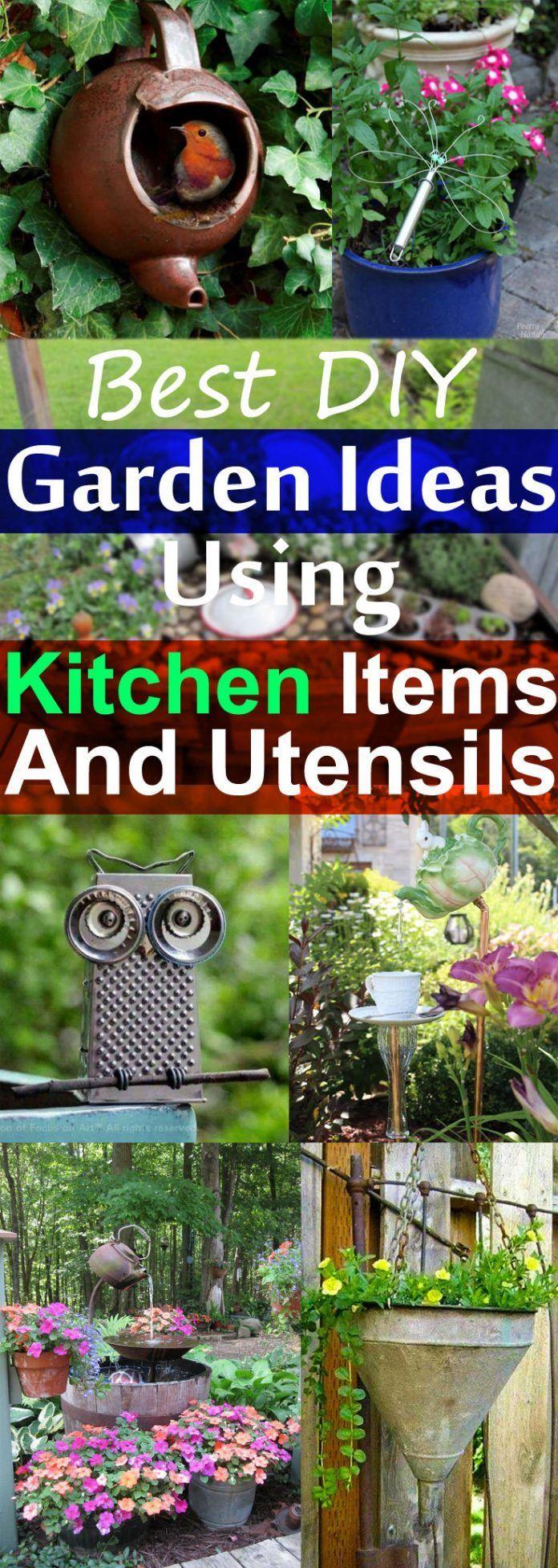 19 Best DIY Garden Ideas Using Kitchen Items & Utensils ...