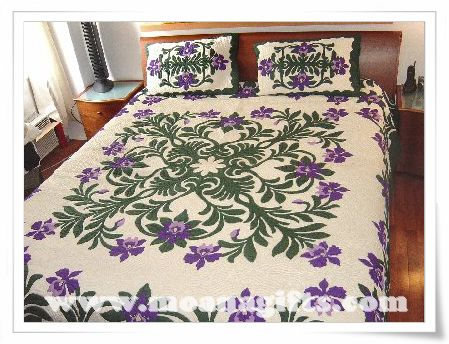 Orchid Splendor Bedspread #2 by Moana Quilts | Want.... | Pinterest