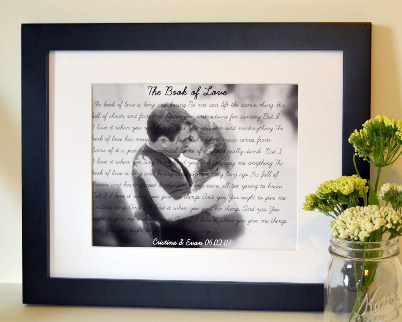 Wedding Song Lyric Art Song Lyrics Anniversary Gift