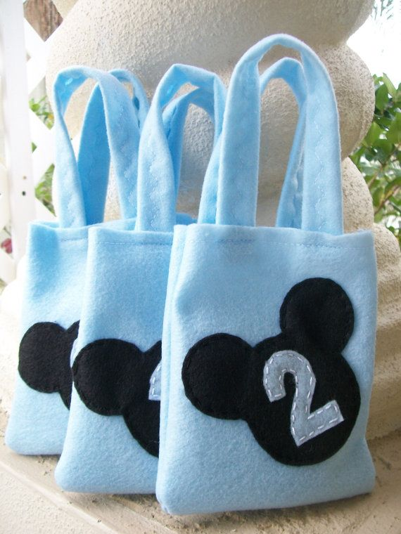 Mickey Mouse Party Set Of 3 Party Bags By Bellisimasofia On Etsy