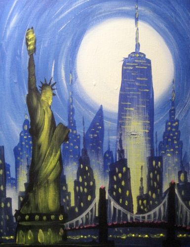 Christmas Paint And Sip November 2020 Nyc New York City Cruise II at Millenium Hilton Hotel (Downtown