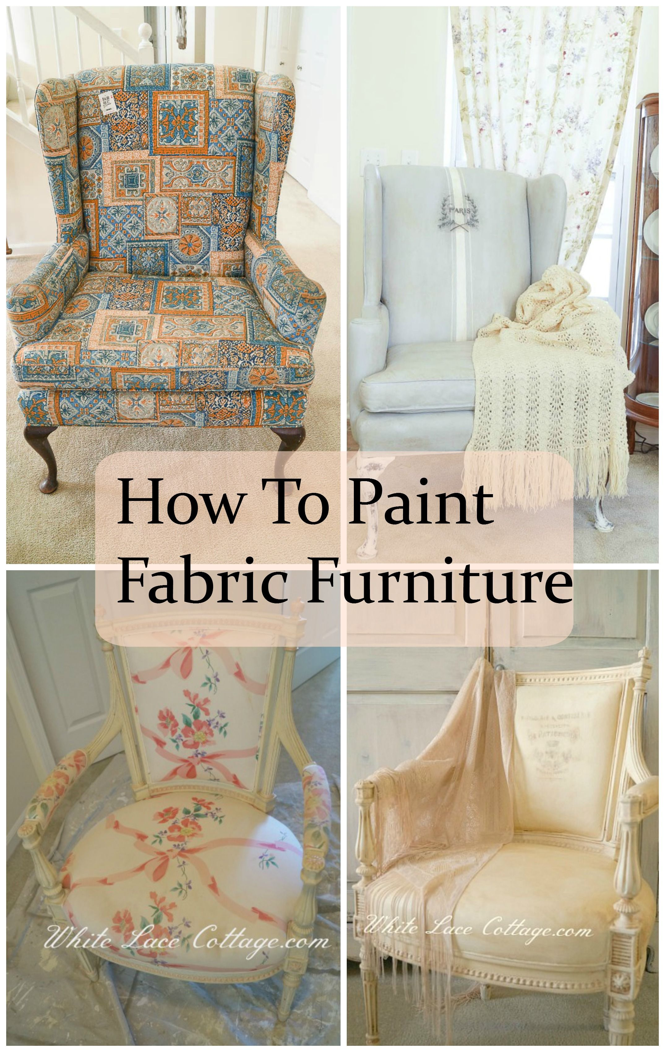 How To Paint Fabric Furniture  White Lace Cottage is part of Painting fabric furniture - I'm always asked how to paint fabric furniture and is it practical  It's not only practical but it's easy and affordable as well