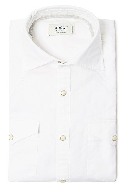 Cafe Coton Mens Casual-Fit Long-Sleeve Cotton Shirt