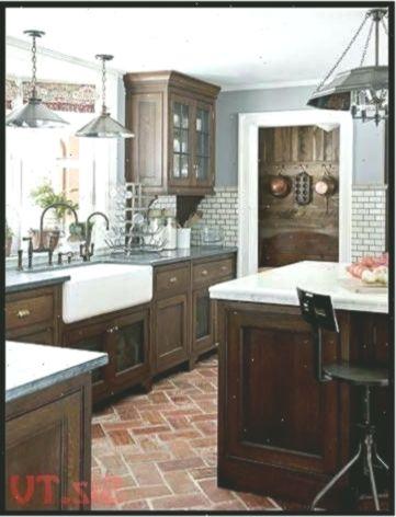 I Like The Dark Cabinets Farmhouse Sink Wall Tile 038 Flooring