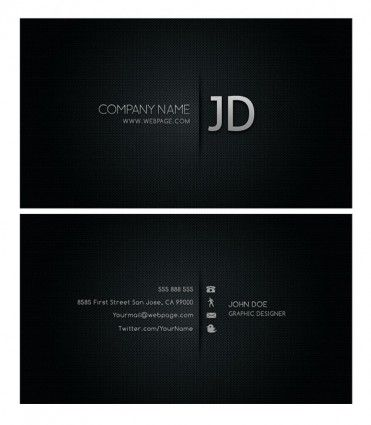 Serious And Elegant Free Black Business Card Templates Designed - Cool business card templates