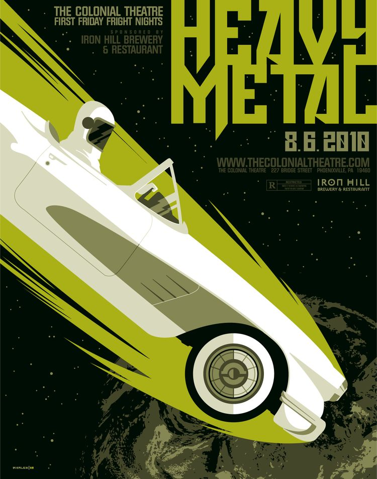 Heavy Metal 1981 Alternative Movie Poster By Tom Whalen Amusementphile Heavy Metal Comic Heavy Metal Heavy Metal Art