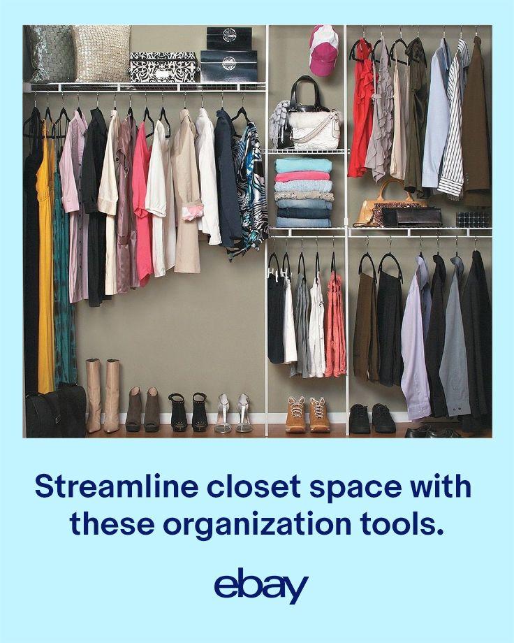 Pin By Ebay On The Organized Home Closet Shelf Organization