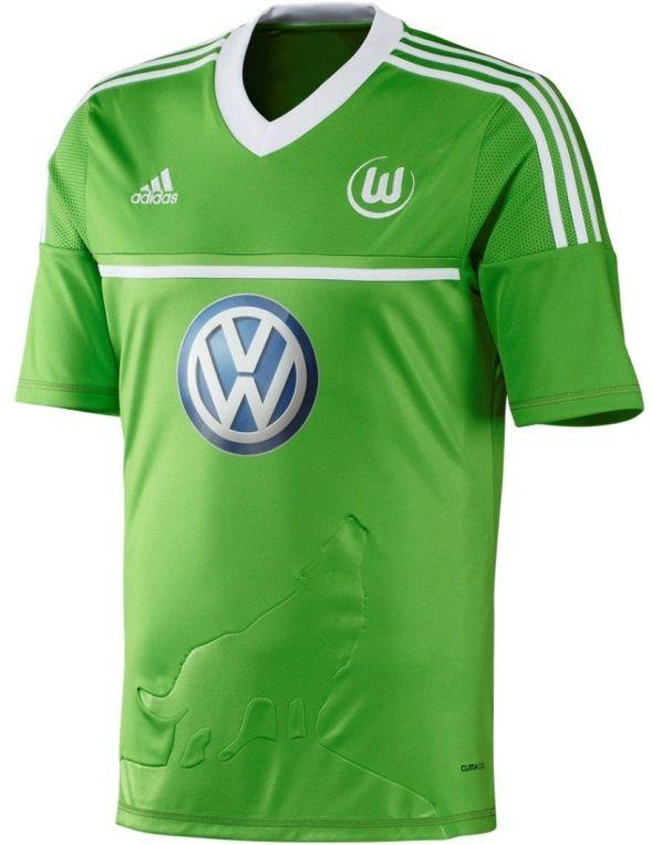 half off 7e07c d75e8 Wolfsburg home shirt 12/13 | jersey | Football jerseys ...