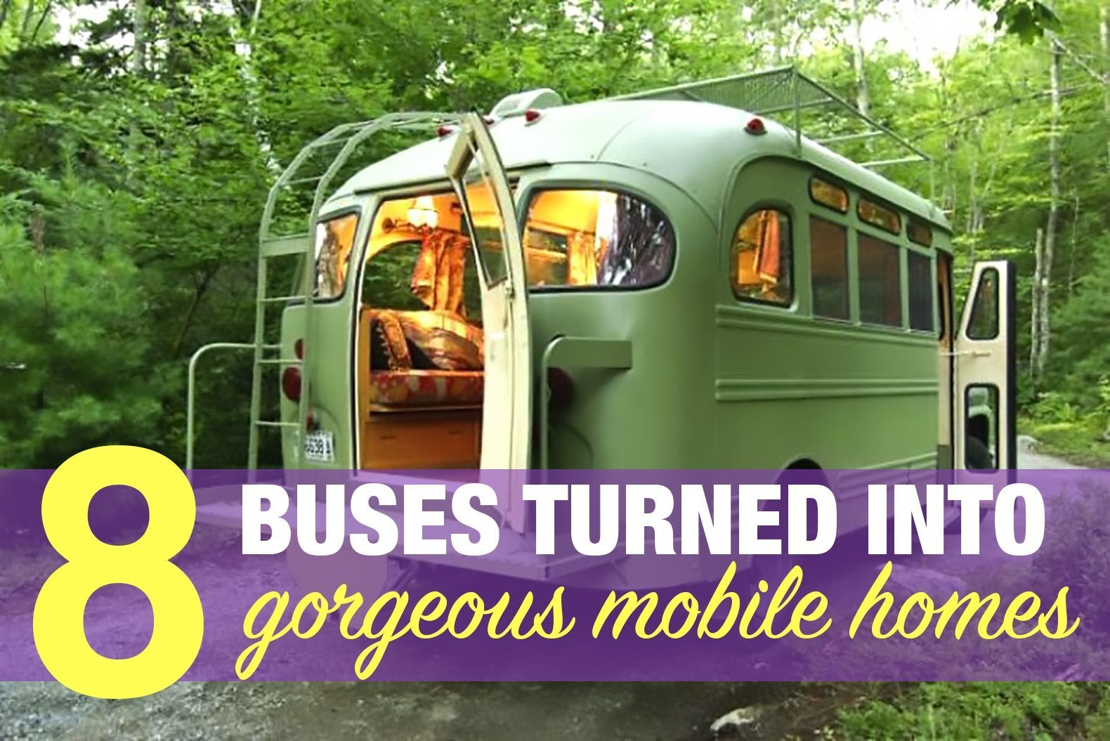 Stunning Ways To Transform Your Old Van Into A Cool Mobile Home Lifestyle By Mediumgratuit Info Old School Bus Bus House School Bus