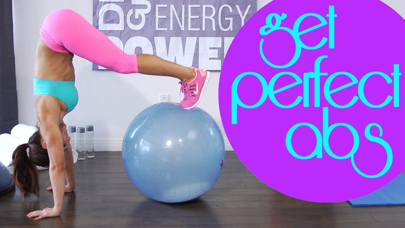 Stability Ball For A Great Ab And Core Workout Watch This Video Get The Card That Goe