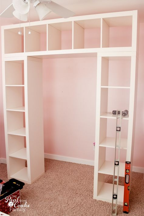 Make this easy IKEA built in storage hack