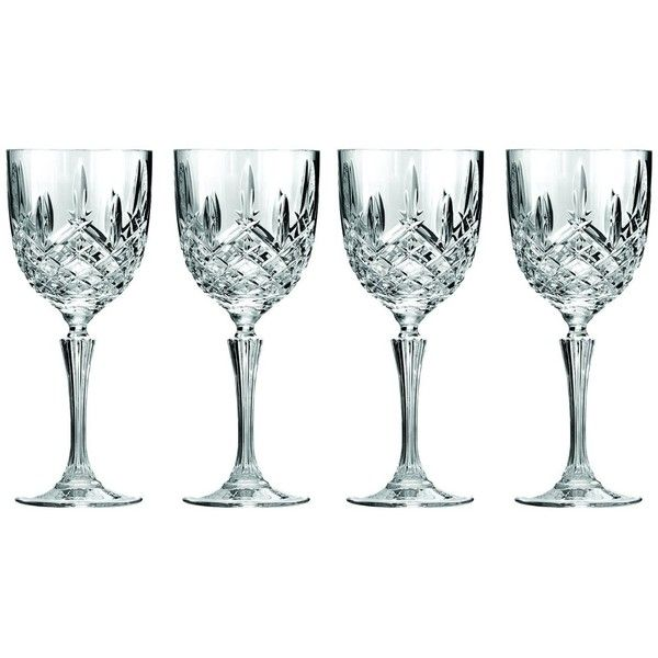 Marquis by Waterford Markham Wine Glass, Set of 4 ($37) ❤ liked on ...
