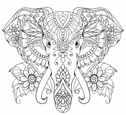 Free Coloring Pages Get Creative It Ll Be Fun Elephant Coloring Page Mandala Coloring Pages Free Coloring Pages