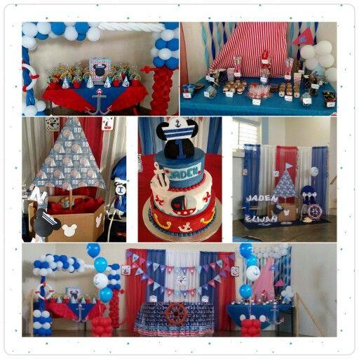 Nautical mickey birthday decorathion