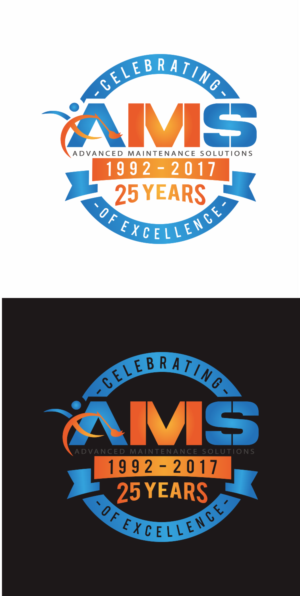 Logo Design job AMS 25th Anniversary logo Winning