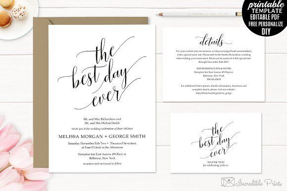 classic wedding invitation set creativework247 templates