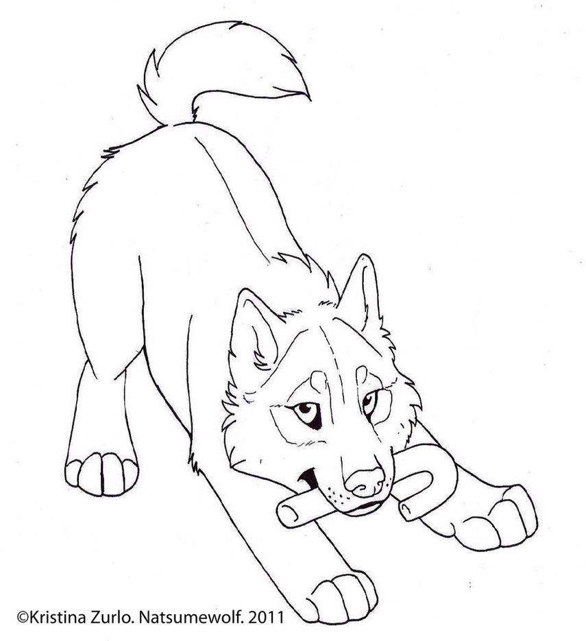 FREE Holiday pup lineart by NatsumeWolf on DeviantArt