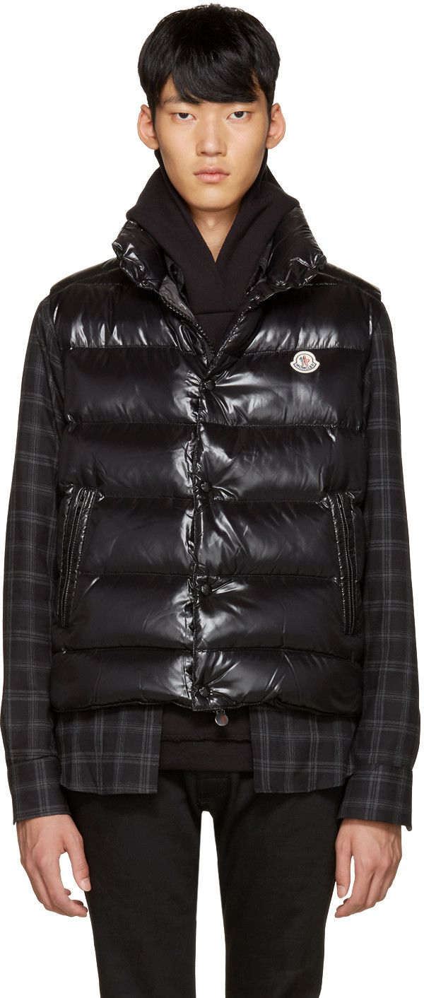 01b1df5c9 MONCLER Black Down Tib Vest. #moncler #cloth #vest | Moncler Men ...