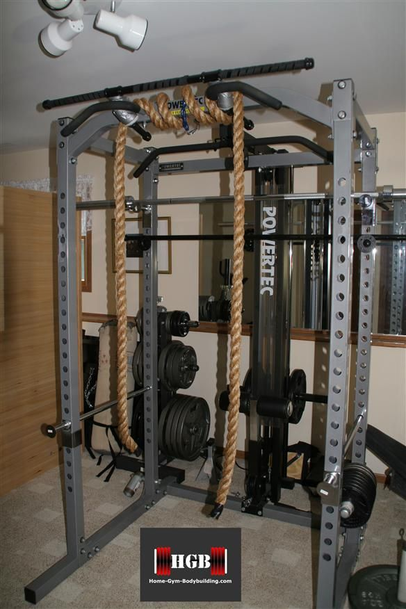 Rope Pull Ups Using Your Power Rack Homemade Gym