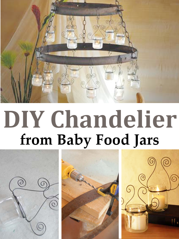 Check Out This Idea For A Beautiful Chandelier Using Recycled Baby Food  Jars. I Found Home Design Ideas