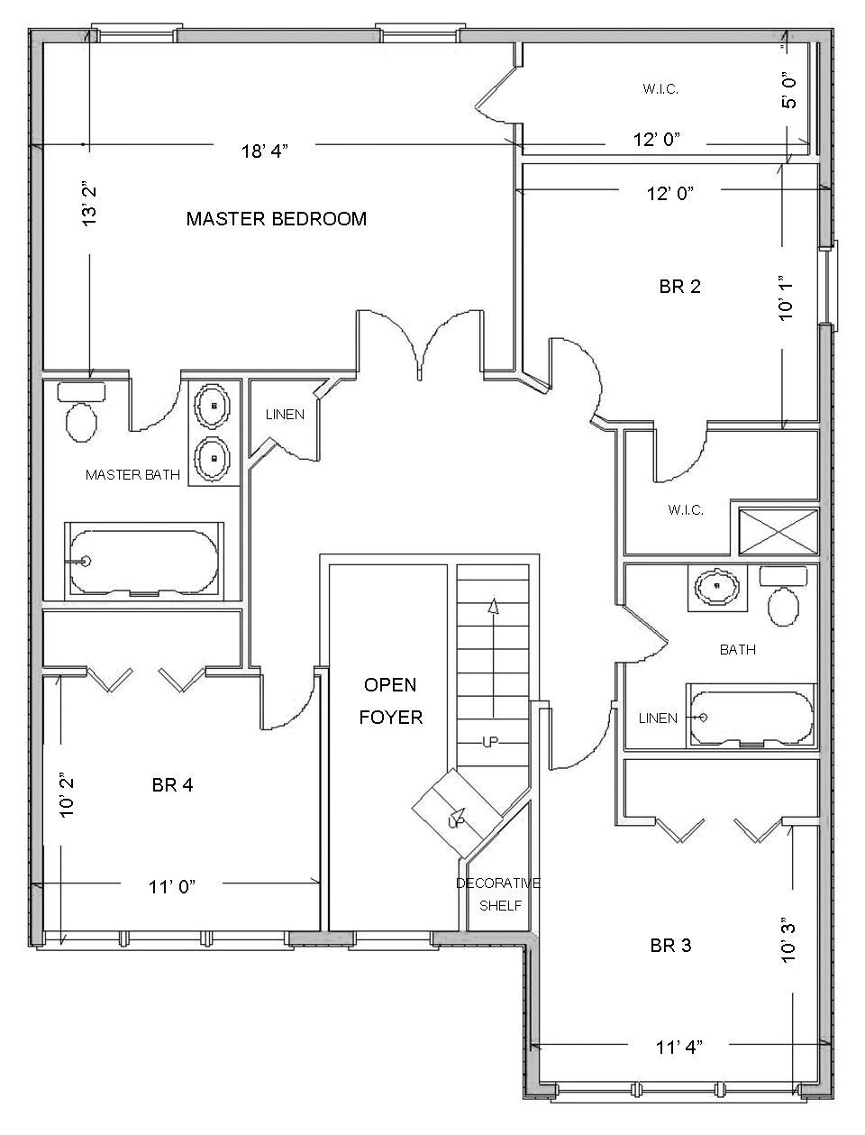 Master bedroom drawing - Attractive Floor Plans Based True Story With Smart Draw Floor Plan Using White Blank Print Displaying Master Bathmaster Bedroomsdesign