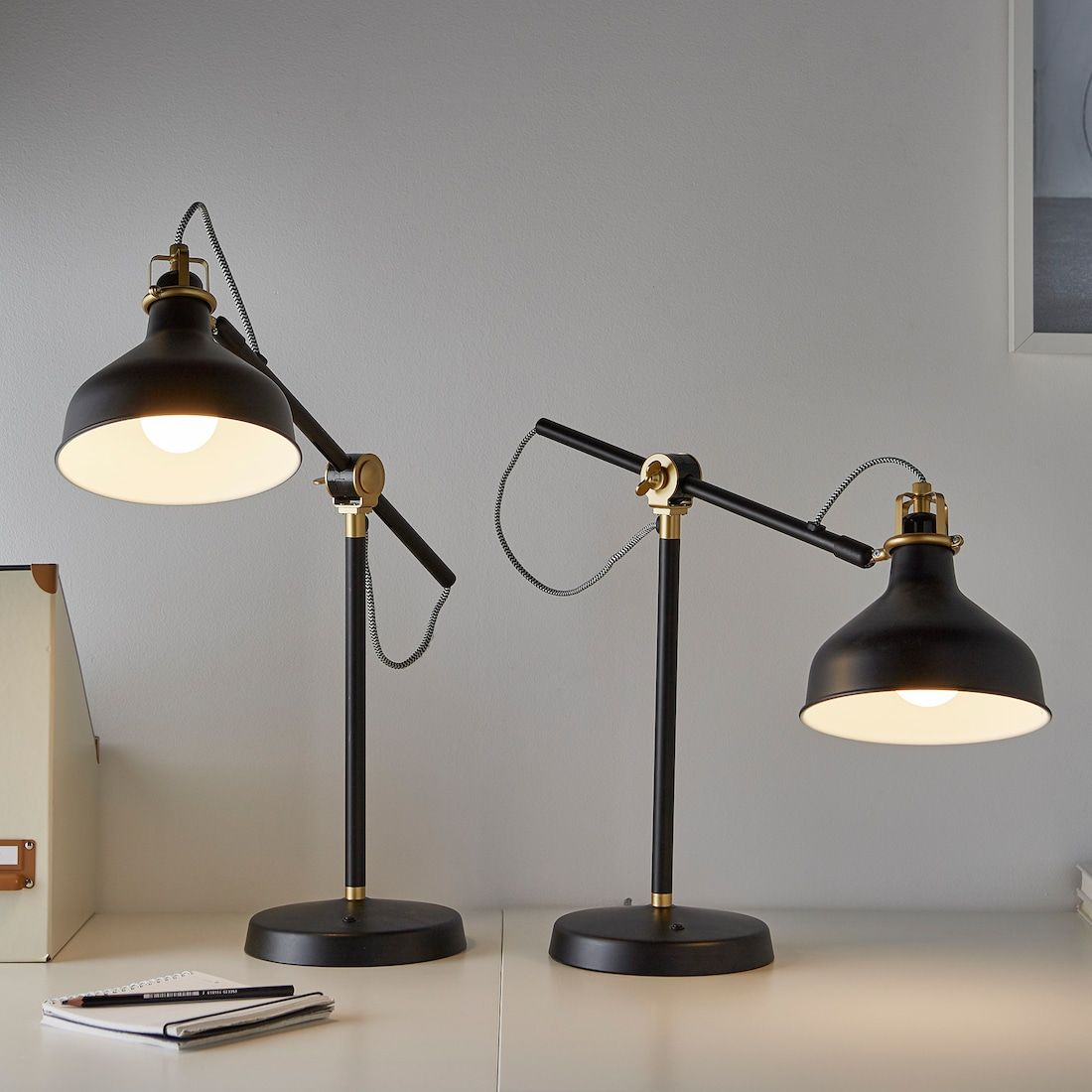 RANARP Work lamp with LED bulb, black IKEA in 2020 | Lamp