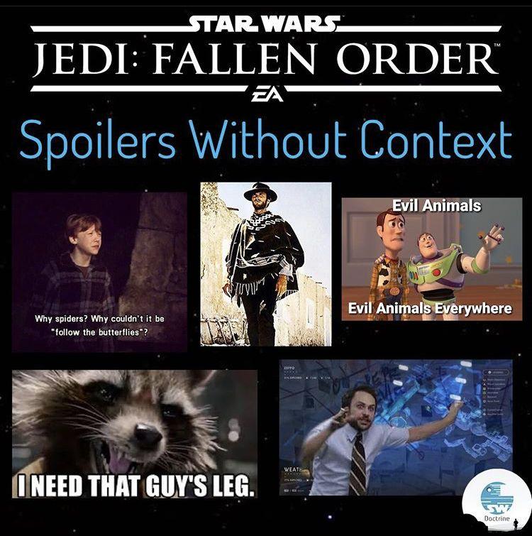 Pin By Emma Elizabeth G On Star Wars Star Wars Fallen Order Star Wars Humor Star Wars Facts