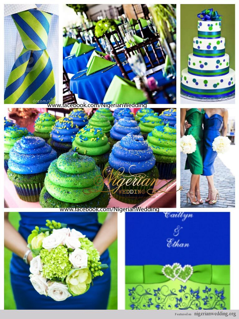Blue And Green Wedding Themes Colours