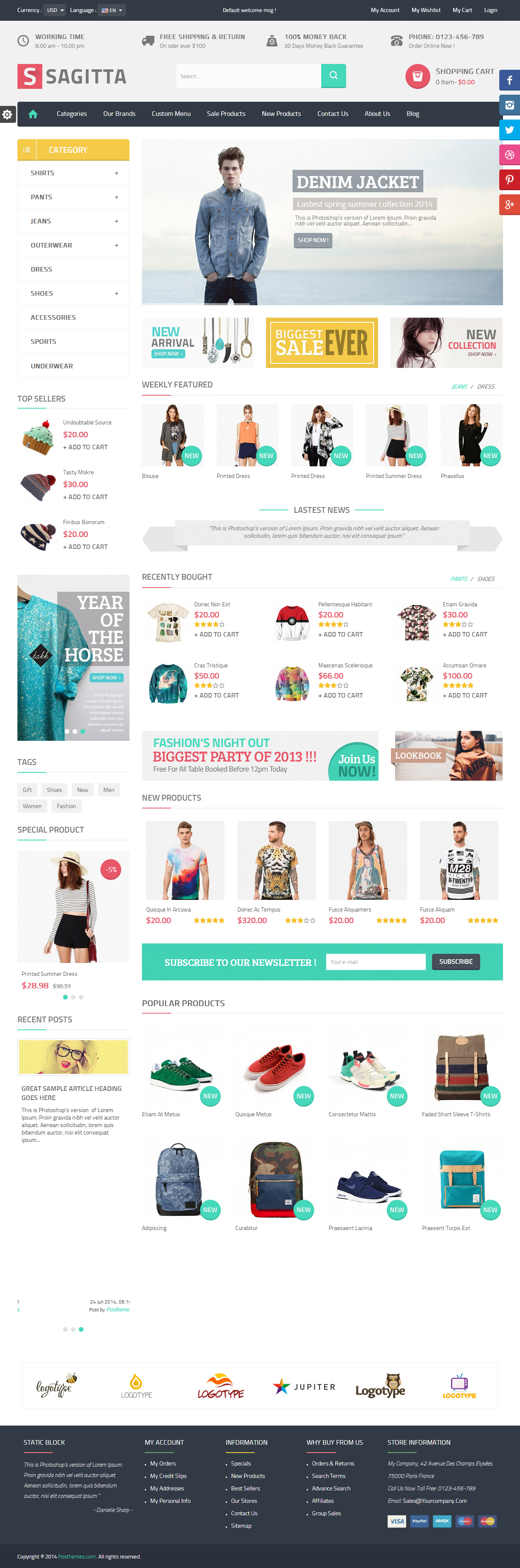 Sagitta - Premium Responsive PrestashopTheme   ☆~Web Design