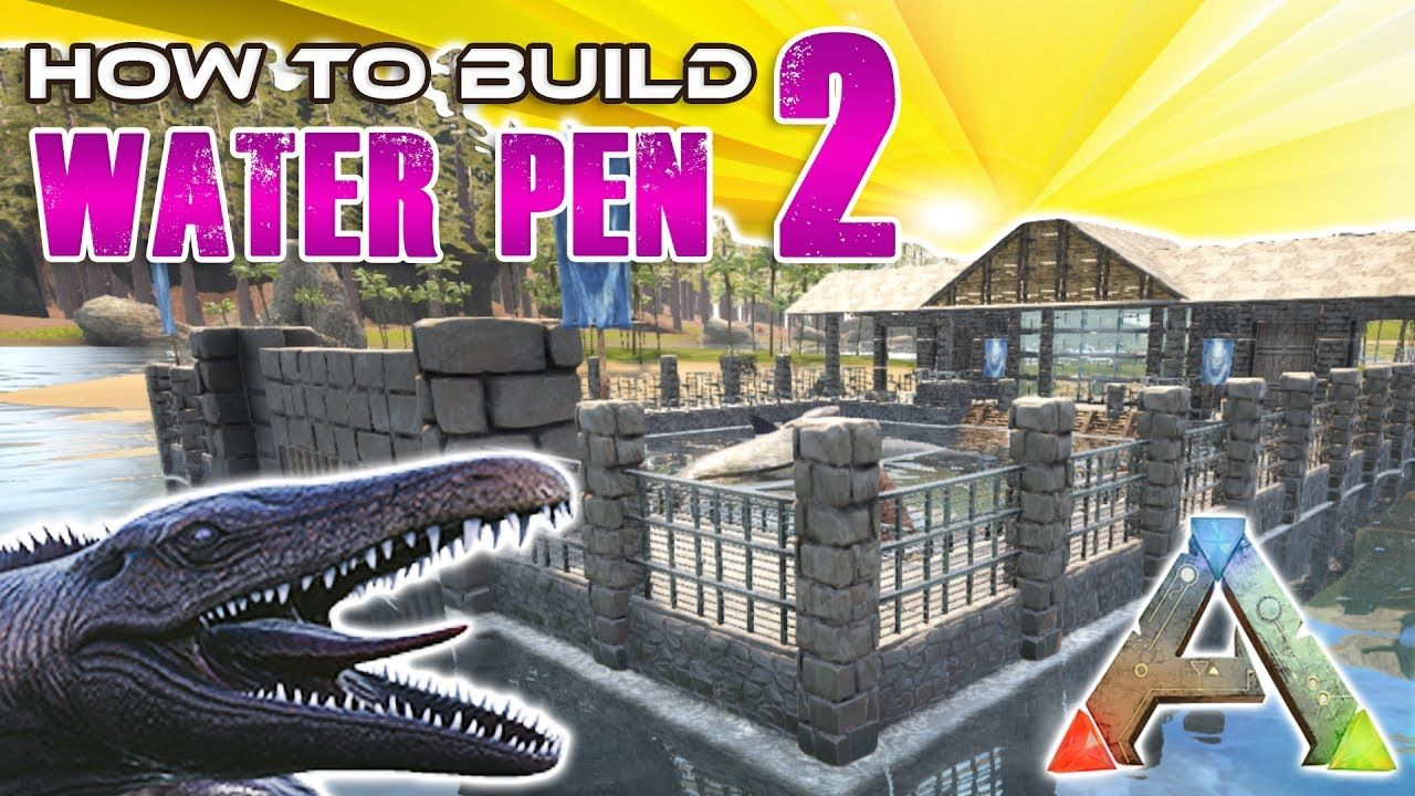 Pin by hachi on ark pinterest this video is a detailed tutorial for a large water pen it is large enough to house plesiosaurs it has a large building at the main entrance also this ark malvernweather Gallery