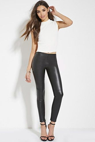 1d67f641a4e43 Faux Leather Skinny Pants | Forever 21 - 2000163248 | Edgy Style ...