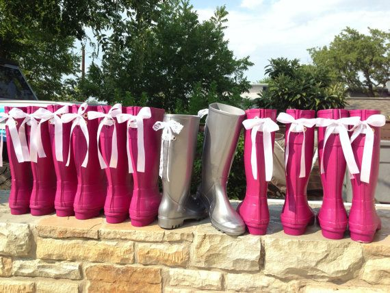 Items Similar To Wedding Rain Boots With White Lace Bows On Etsy