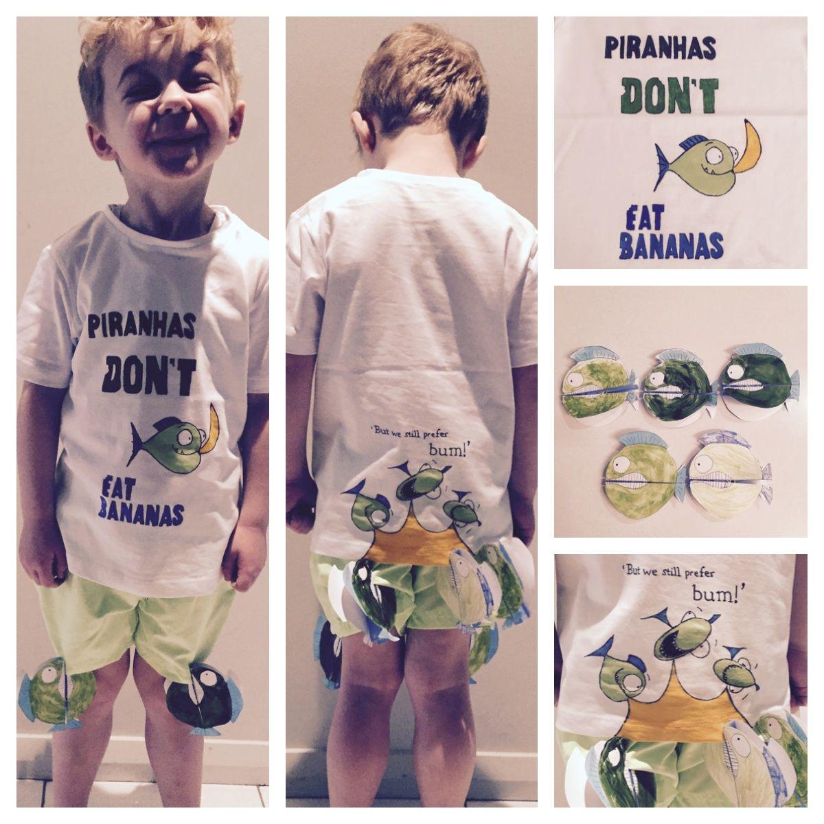 Piranhas Don T Eat Bananas Book Week Dress Up Book Week Costume Book Costumes Book Week Characters
