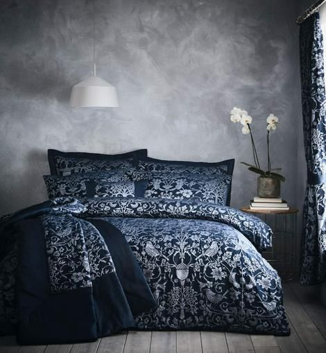 Oak Tree #DuvetSets & Matching Accessories. Duvet Sets, #Bedspread, #BoudoirCushion and #Curtains Available in Midnight Navy Blue or Stone #oaktreeduvetset #oaktreebedding #cosybedrooms #bedset #bedroomcomforts #theaccessoryzone