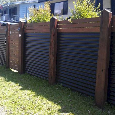 08 Easy And Cheap Privacy Fence Design Ideas Structures De