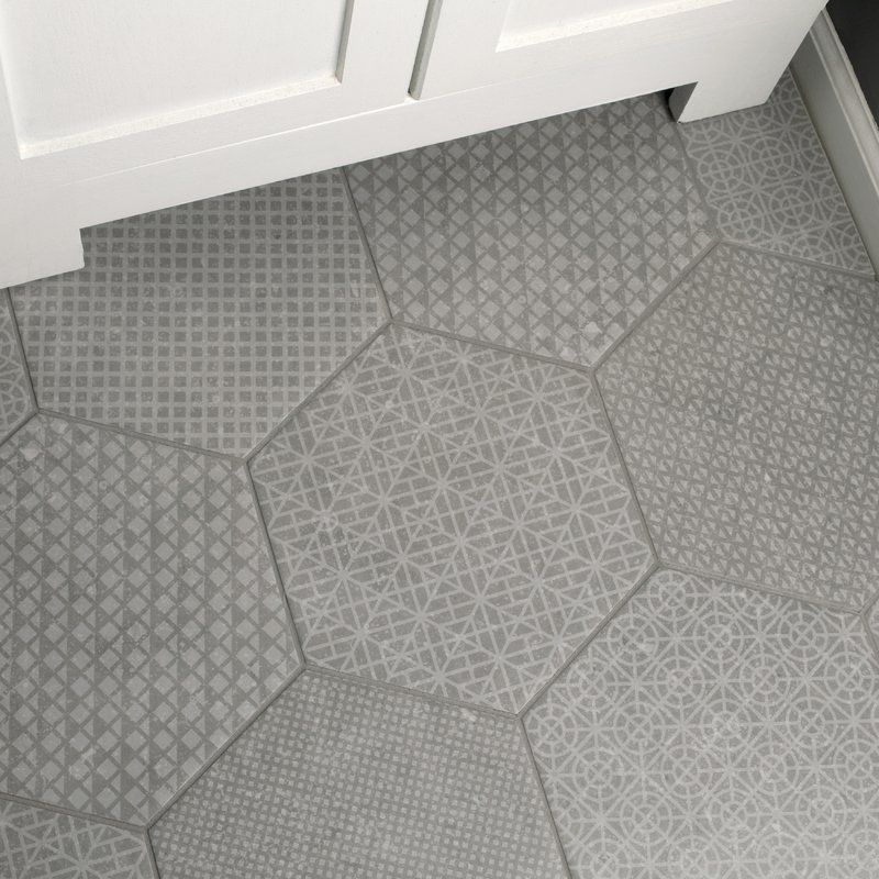 Elitetile Lunastone Hexagon 10 X 11 5 Porcelain Field Tile Reviews Wayfair Porcelain Flooring Flooring Bathroom Flooring