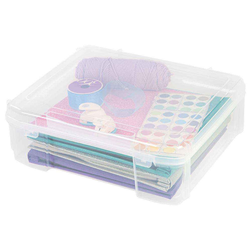 Iris 12 In X 12 In Portable Project Case In Clear 150780 In 2020 Scrapbook Storage Scrapbook Supplies Craft Storage