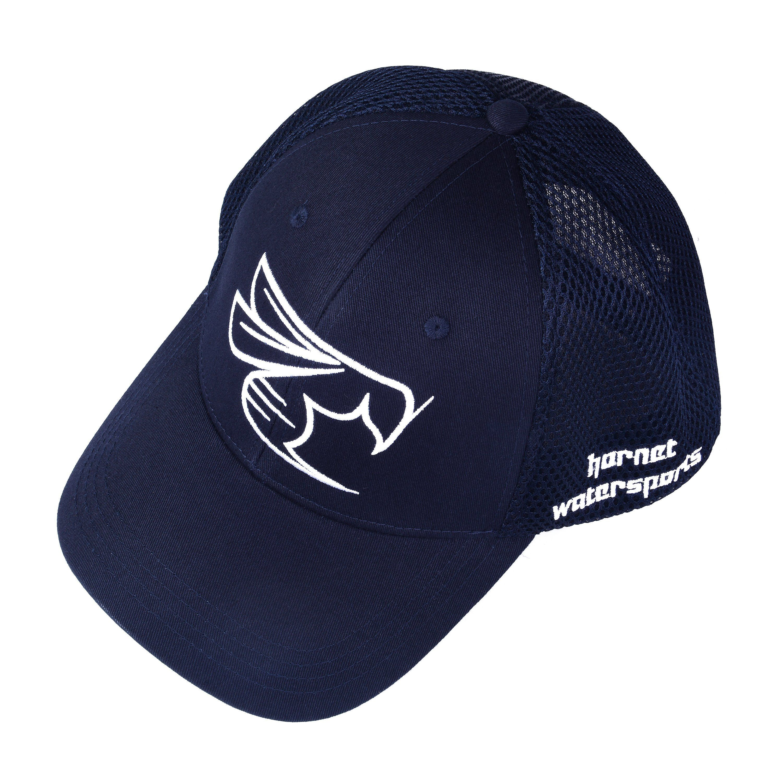 Hornet Mesh Back Cap in Navy Blue with White Logo | Cap and Products