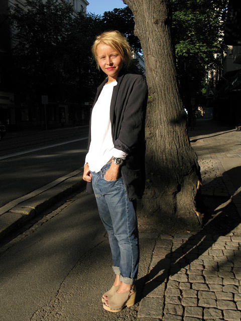 Jacket COS// T-shirt H// Jeans Acne/ Shoes: Marc O'Polo