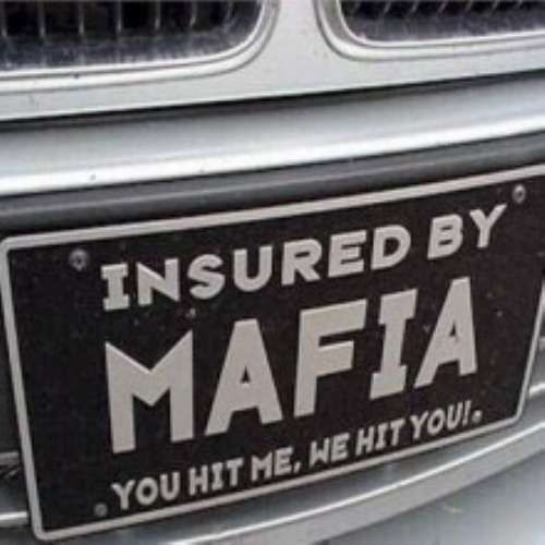 Daily Humor Funny Videos Pictures Memes Clips Mafia Mafia Quote Funny License Plates