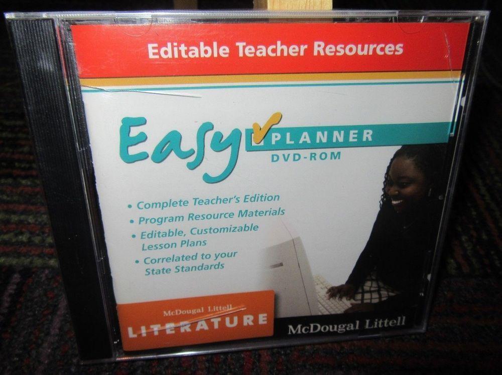 New Easy Planner Literature Grade 9 Dvd Rom By Mcdougal