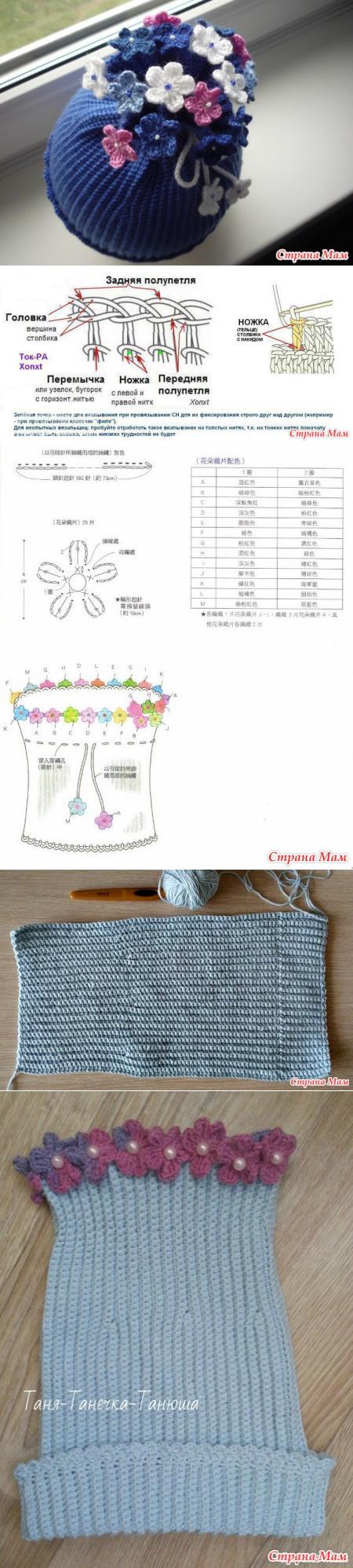 Вязание, валяние | Gorros, Tejido y Gorros crochet