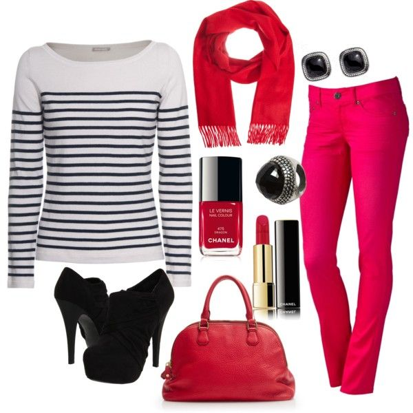 """Red and Pink"" by leeannm on Polyvore"