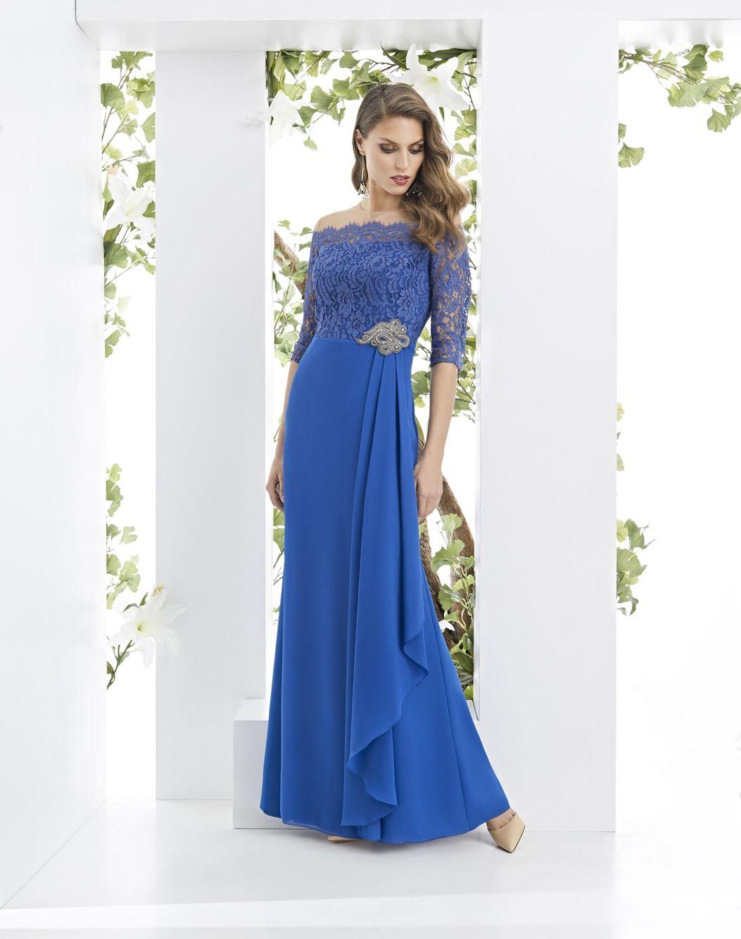 Lizana As Seleccion Vestido Azul Electrico Elegante Y De