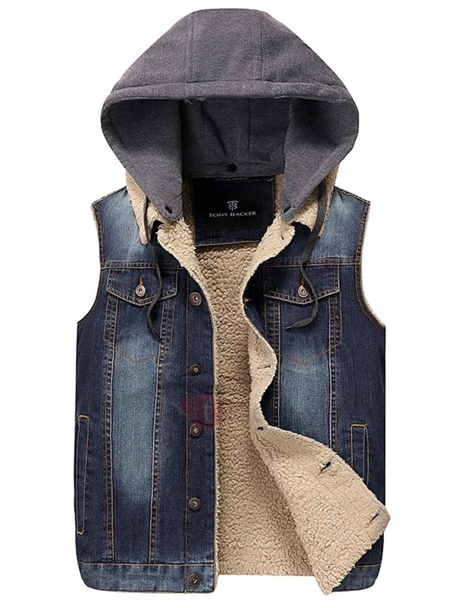 a8a8171077c  AdoreWe  TideBuy - TideBuy Tidebuy Hooded Single-Breasted Mens Denim Vest  - AdoreWe.com