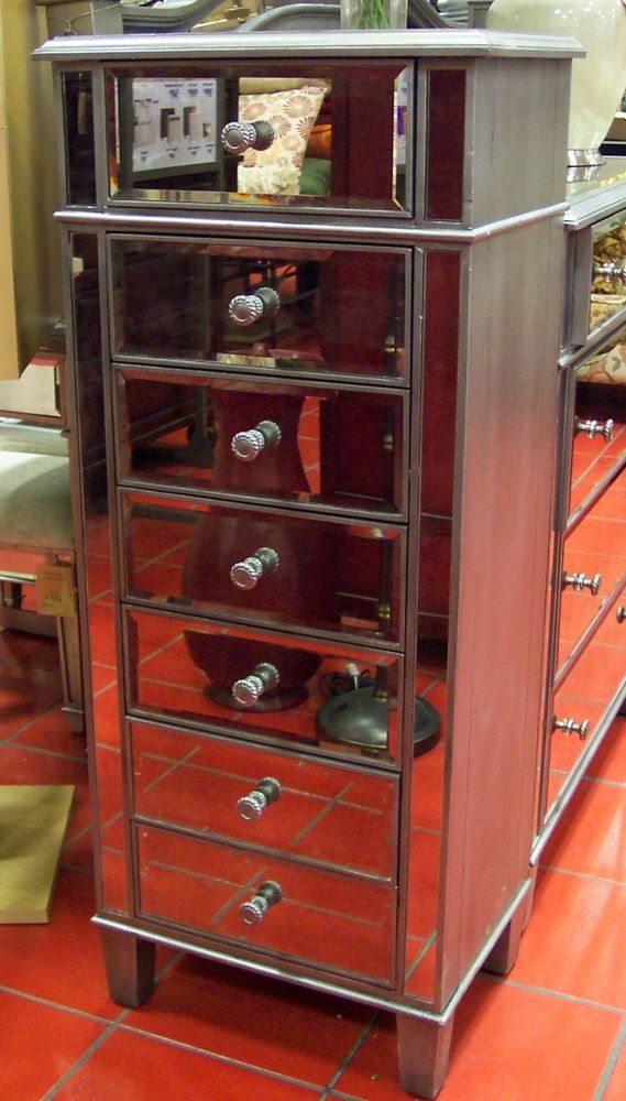 Best Venetian Mirrored Tall L*Ng*R** Chest Drawers Silver 640 x 480
