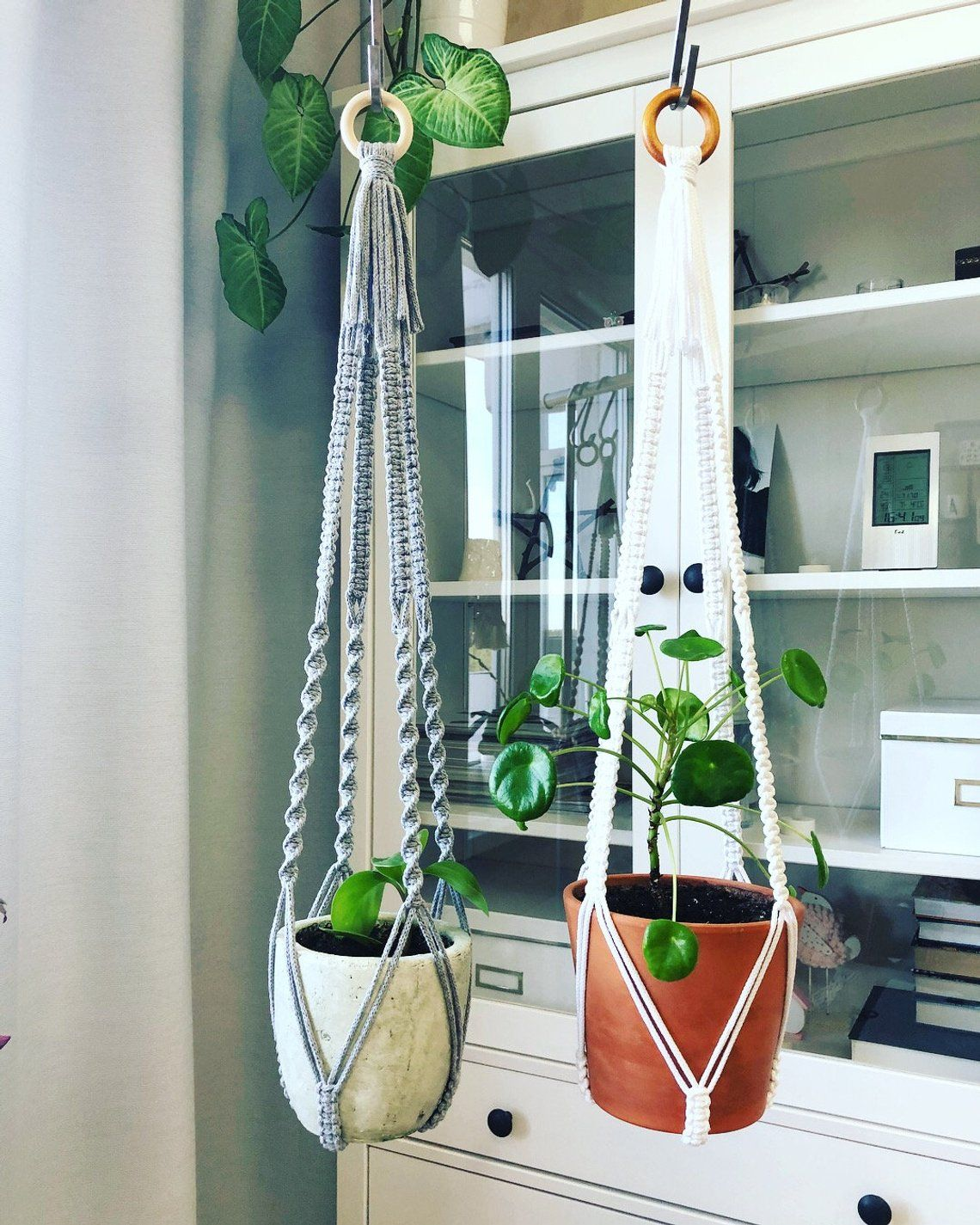 Modern Macrame Plant Hanger Without