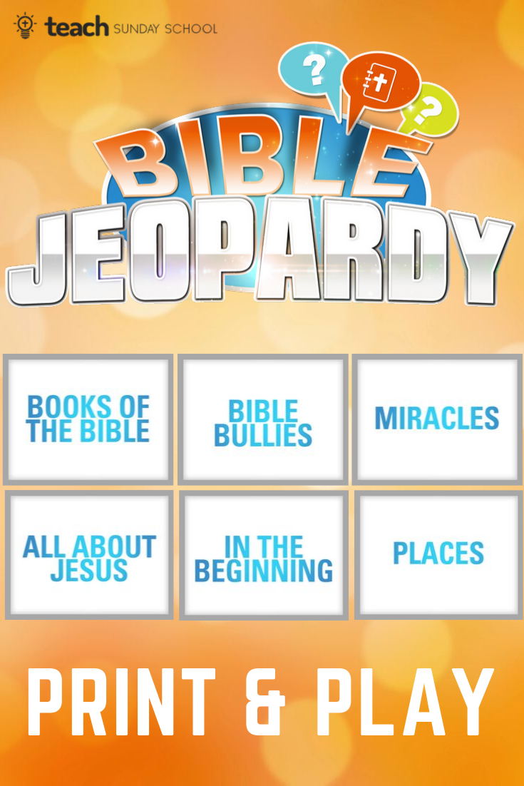 Bible Trivia Game Jeopardy Printable Sunday School Games Sunday School Activities Bible Study For Kids