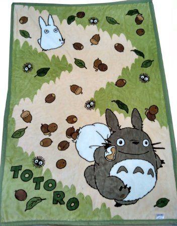"Amazon.com - Winterworm® 60""*42"" Studio Ghibli My Neighbor Totoro Soft Blanket Children Baby Coral Fleece Bath Towel Sleeping Cover (Yellow Mushroom) -"